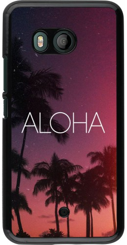 Coque HTC U11 - Aloha Sunset Palms