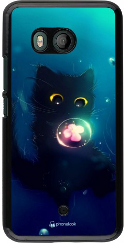 Coque HTC U11 - Cute Cat Bubble