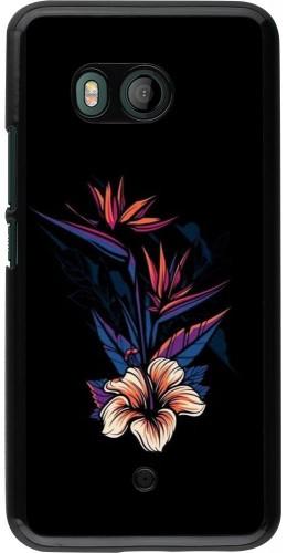 Coque HTC U11 - Dark Flowers