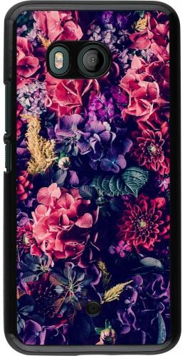 Coque HTC U11 - Flowers Dark