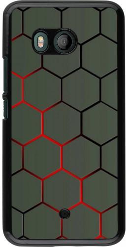 Coque HTC U11 - Geometric Line red