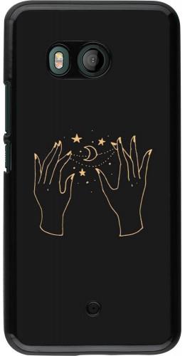 Coque HTC U11 - Grey magic hands