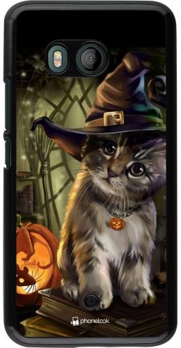Coque HTC U11 - Halloween 21 Witch cat