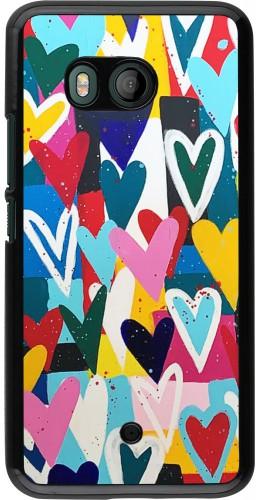 Coque HTC U11 - Joyful Hearts
