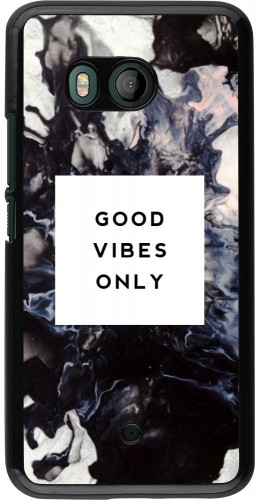Coque HTC U11 - Marble Good Vibes Only