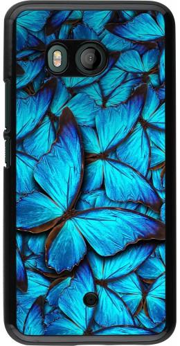 Coque HTC U11 - Papillon bleu