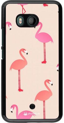 Coque HTC U11 - Pink Flamingos Pattern