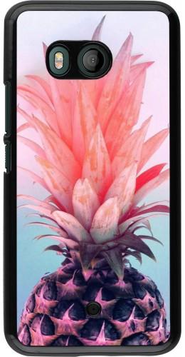 Coque HTC U11 - Purple Pink Pineapple