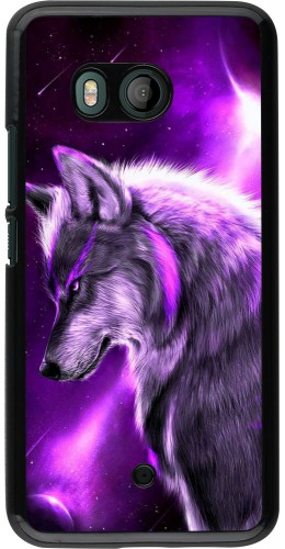 Coque HTC U11 - Purple Sky Wolf