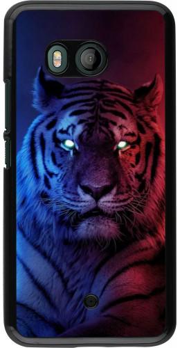 Coque HTC U11 - Tiger Blue Red