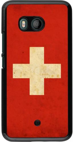 Coque HTC U11 - Vintage Flag SWISS