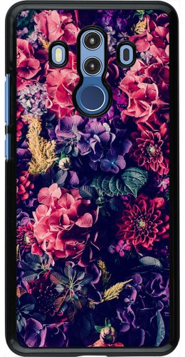 Coque Huawei Mate 10 Pro - Flowers Dark
