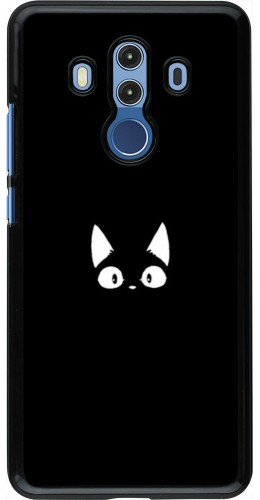 Coque Huawei Mate 10 Pro - Funny cat on black