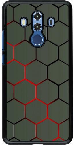 Coque Huawei Mate 10 Pro - Geometric Line red