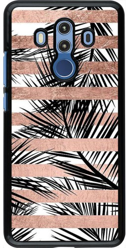 Coque Huawei Mate 10 Pro - Palm trees gold stripes