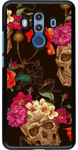 Coque Huawei Mate 10 Pro - Skulls and flowers