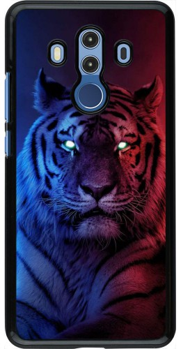 Coque Huawei Mate 10 Pro - Tiger Blue Red