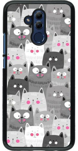 Coque Huawei Mate 20 Lite - Chats gris troupeau