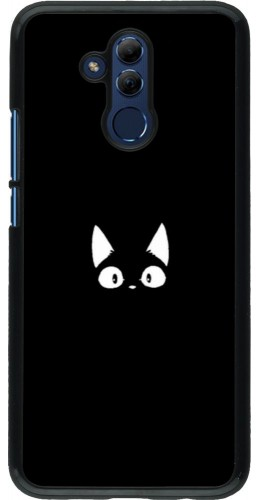 Coque Huawei Mate 20 Lite - Funny cat on black