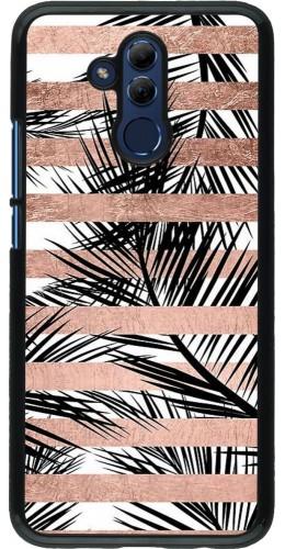 Coque Huawei Mate 20 Lite - Palm trees gold stripes