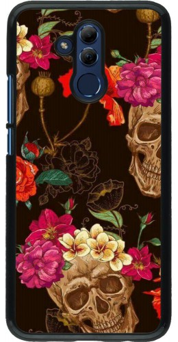 Coque Huawei Mate 20 Lite - Skulls and flowers