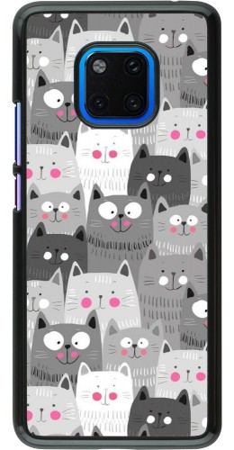 Coque Huawei Mate 20 Pro - Chats gris troupeau