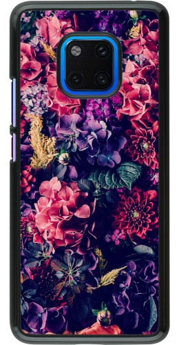 Coque Huawei Mate 20 Pro - Flowers Dark