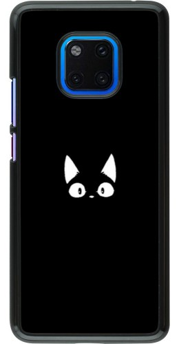 Coque Huawei Mate 20 Pro - Funny cat on black