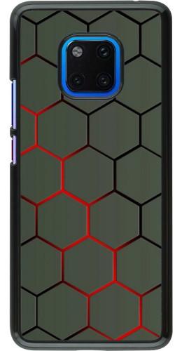 Coque Huawei Mate 20 Pro - Geometric Line red