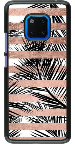 Coque Huawei Mate 20 Pro - Palm trees gold stripes
