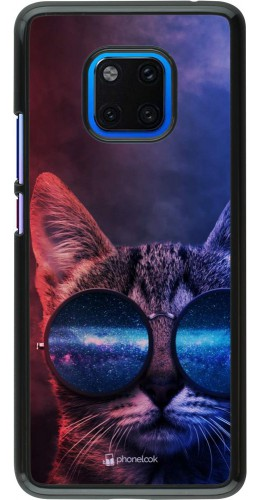 Coque Huawei Mate 20 Pro - Red Blue Cat Glasses