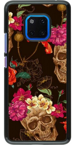 Coque Huawei Mate 20 Pro - Skulls and flowers