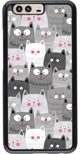 Coque Huawei P10 - Chats gris troupeau