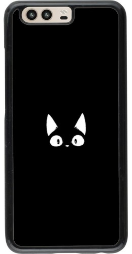 Coque Huawei P10 - Funny cat on black