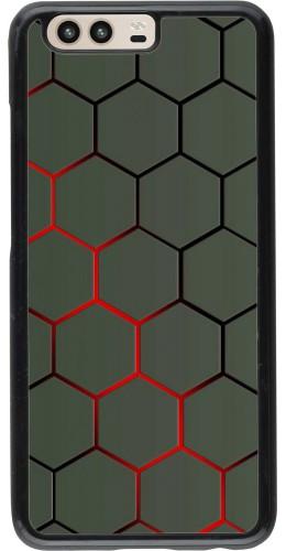 Coque Huawei P10 - Geometric Line red