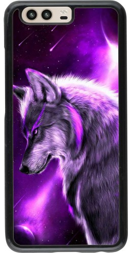 Coque Huawei P10 - Purple Sky Wolf