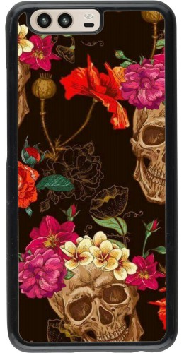 Coque Huawei P10 - Skulls and flowers