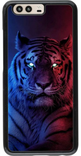 Coque Huawei P10 - Tiger Blue Red