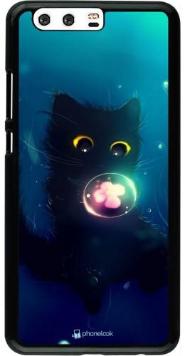 Coque Huawei P10 Plus - Cute Cat Bubble