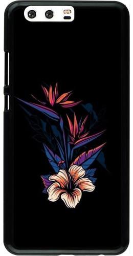 Coque Huawei P10 Plus - Dark Flowers
