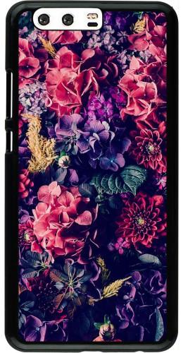 Coque Huawei P10 Plus - Flowers Dark