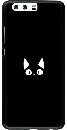 Coque Huawei P10 Plus - Funny cat on black