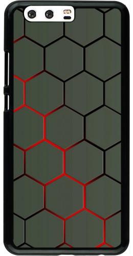 Coque Huawei P10 Plus - Geometric Line red