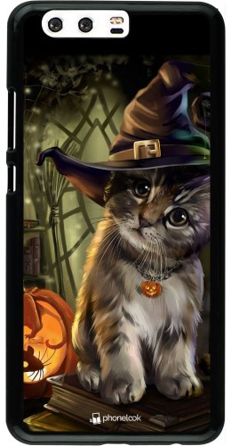 Coque Huawei P10 Plus - Halloween 21 Witch cat