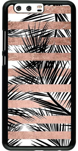 Coque Huawei P10 Plus - Palm trees gold stripes
