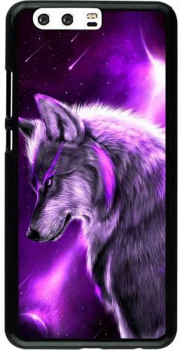 Coque Huawei P10 Plus - Purple Sky Wolf