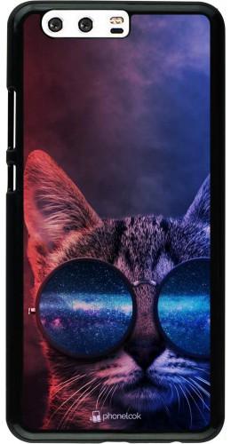 Coque Huawei P10 Plus - Red Blue Cat Glasses