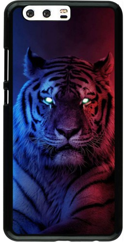 Coque Huawei P10 Plus - Tiger Blue Red