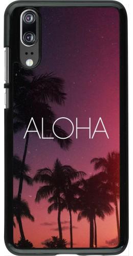 Coque Huawei P20 - Aloha Sunset Palms