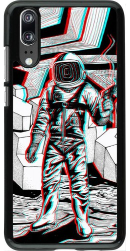 Coque Huawei P20 - Anaglyph Astronaut